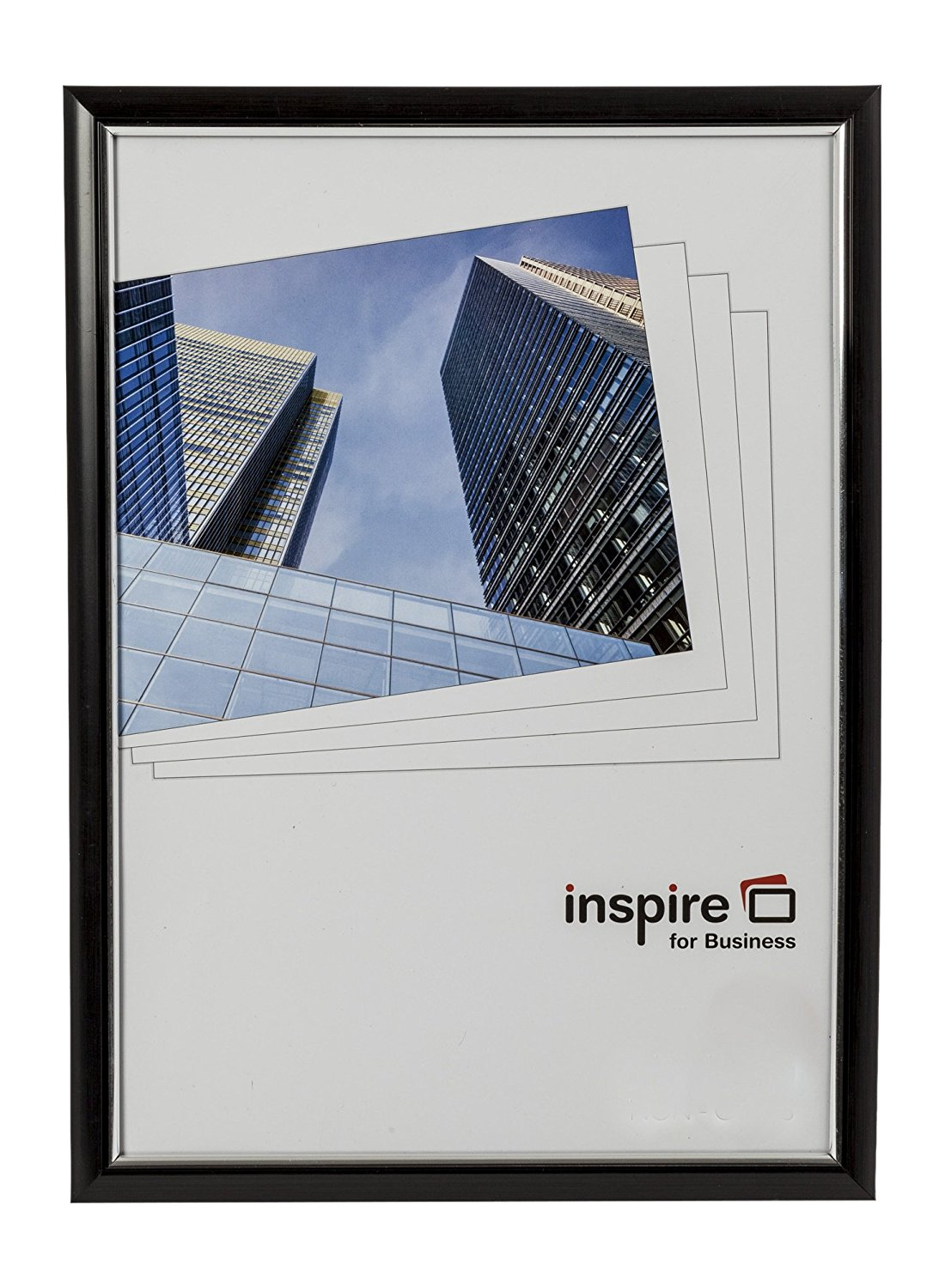 Photo Album Inspire For Business Certificate A4 Back Loader Black Frame