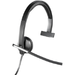 Logitech H650e Monaural Head-band Black,Grey headset 981-000514