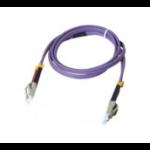 Hypertec ProConnectLite fibre optic cable 2 m LSZH OM3 LC Purple