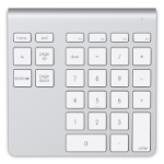 Belkin F8T068VF numeric keypad Bluetooth Notebook/PC Aluminium