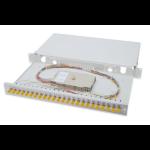 Digitus Fiber Optic Sliding Splice Box. 1U. Equipped