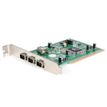 StarTech.com 4 Port PCI 1394a FireWire Adapter Card with Digital Video Editing Kit