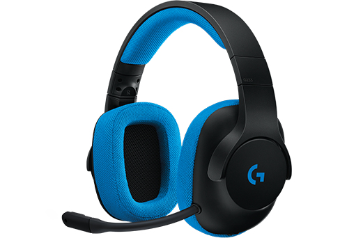 Logitech G233 Binaural Head-band Black, Blue headset