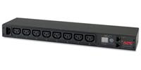 APC Rack PDU, Metered, 1U, 12A/208V, 10A/230V, (8) C13