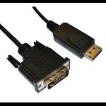 Videk DisplayPort/DVI-D 5 m Black