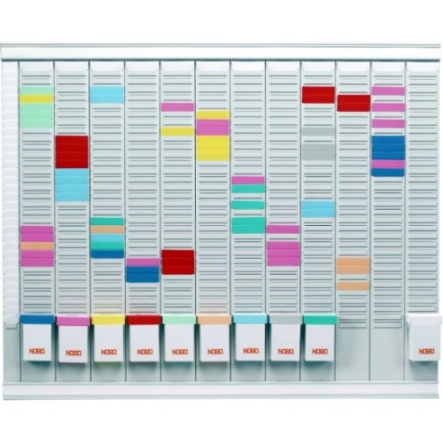 Nobo T-Card Planning Kit - 12 Month Planner