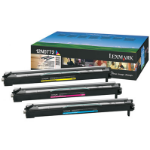 Lexmark 12N0772 Drum kit, 28K pages, Pack qty 3