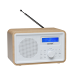 Denver Electronics DAB-35MK2 Personal Digital White, Wood radio