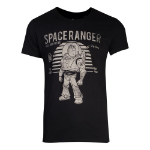 Disney Toy Story Space Ranger Buzz Lightyear Vintage T-Shirt, Male, Large, Black (TS556228TOY-L)