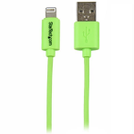 StarTech.com 1m (3ft) Green Apple 8-pin Lightning Connector to USB Cable for iPhone / iPod / iPad mobile phone cable