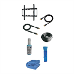 "Newstar TV/Monitor Starter Kit (7-in-1 set) incl. fixed wall mount for 23""-55"" Screen - Black; HDMI cable, RF antenna cable, cable sock, cleaning fluid, cleaning brush, microfibre cloth"