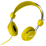 LASER Headphones Stereo Kids Friendly Colourful Yellow