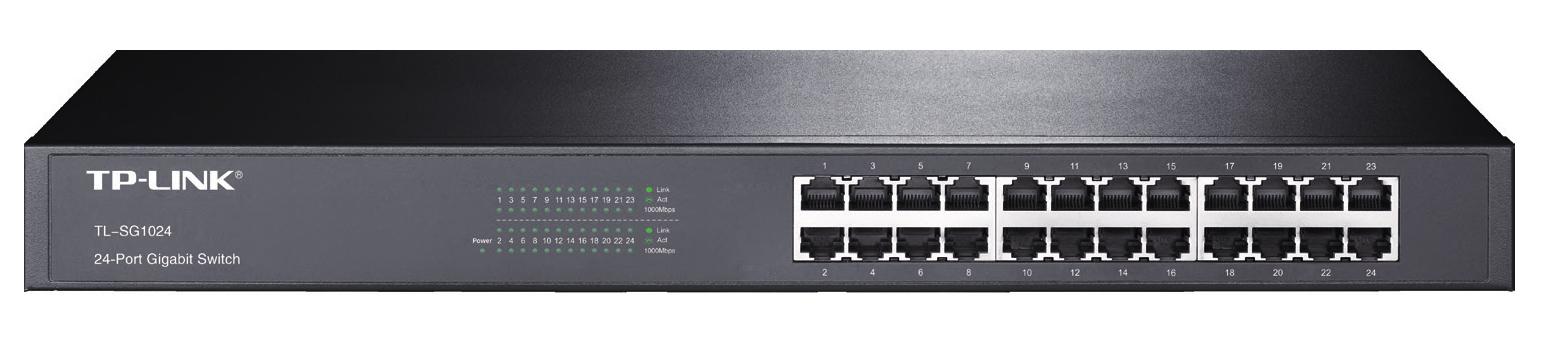 TP-LINK TL-SG1024 No administrado Gigabit Ethernet (10/100/1000) Negro