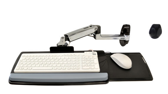 Ergotron LX Wall Mount Keyboard Arm Plata