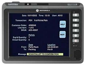 "Zebra VC70N0 PDA 26,4 cm (10.4"") 1024 x 768 Pixels Touchscreen 4,3 kg Zwart"