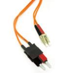 C2G 7m LC/SC LSZH Duplex 50/125 Multimode Fibre Patch Cable 7m Orange fiber optic cable