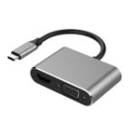 4XEM 4XUSBCHUB04 notebook dock/port replicator Wired USB 3.2 Gen 1 (3.1 Gen 1) Type-C Black, Gray