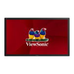 "Viewsonic CDE6502 Digital signage flat panel 65"" LCD Full HD Black signage display"