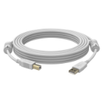 Vision USB 2.0, 2m 2m USB A USB B Male Male White USB cable