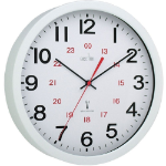 Anglo Continental Acctim Controller Wall Clock Radio Controlled 30cm White 74172