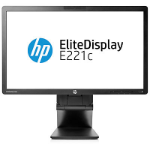 "HP E221c 21.5"" Full HD LED Matt Black computer monitor"