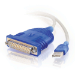 C2G 1.8m USB/DB25 Adapter USB 2.0 White