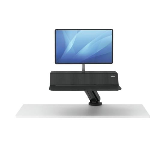 Fellowes Lotus RT Sit-Stand Workstation – Single Black