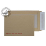 Blake Purely Packaging Manilla Peel and Seal Board Back 241x178mm 120gsm (Pack 125)