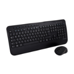 V7 CKW300IT Full Size/Palm Rest Italian QWERTY - Black, Professional Wireless Keyboard and Mouse Combo – IT, Multimedia Keyboard, 6-button mouse