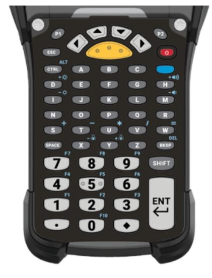 Zebra KYPD-MC9353ANR-01 teclado para móvil Alfanumérico Inglés Negro, Gris