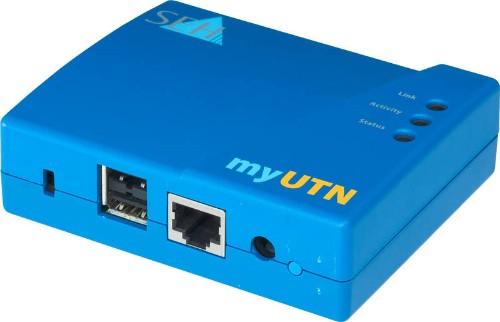SEH myUTN-50a print server Ethernet LAN Blue
