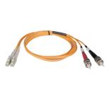 Tripp Lite Duplex Multimode 62.5/125 Fiber Patch Cable (LC/ST), 1M
