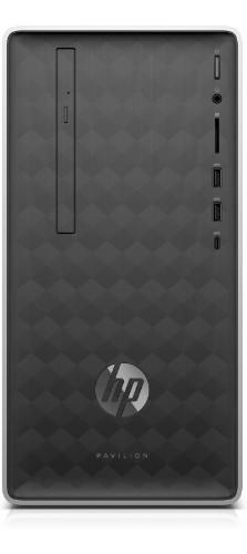 HP Pavilion 590-p0090na 8th gen Intel® Core™ i3 i3-8100 4 GB DDR4-SDRAM 1000 GB HDD Silver Mini Tower PC