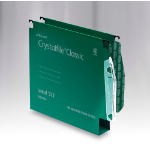 Rexel Crystalfile Classic `275` Lateral File 30mm Green (50)