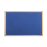 Bi-Office Earth-It Exec Blue Felt Ntcbrd Oak Frme 90x60cm DD