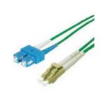 FDL 2M OM3/4 50/125 LC-SC DLX FIBRE OPTIC CABLE - AQUA GREEN