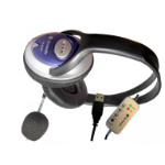 Dynamode Skype Stereo ClearSound headphone with Mic. Binaural