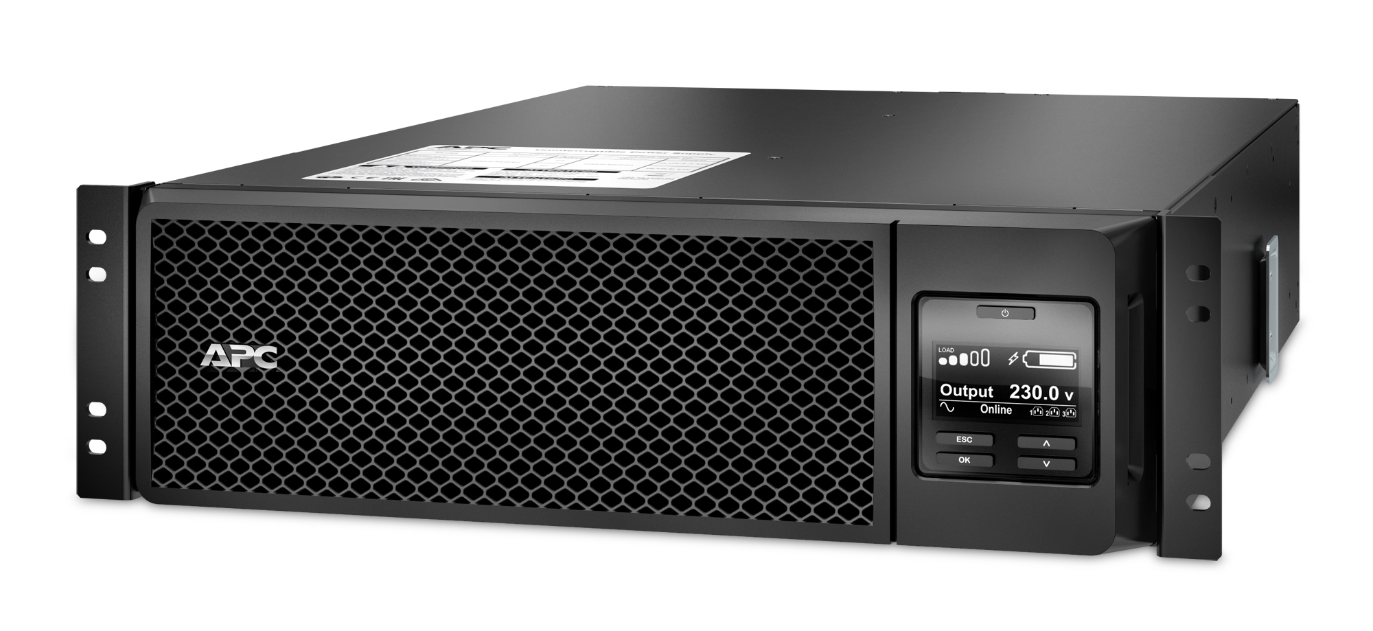 APC Smart-UPS On-Line uninterruptible power supply (UPS) Double-conversion (Online) 5000 VA 4500 W 10 AC outlet(s)