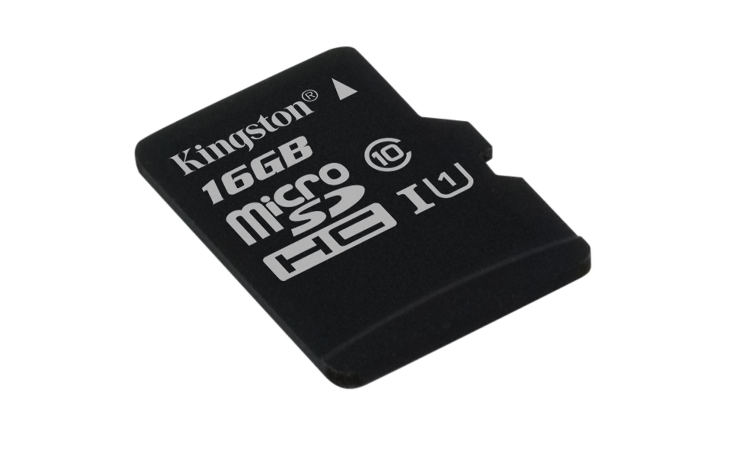 Kingston Technology microSDHC Class 10 UHS-I Card 16GB 16GB MicroSDHC UHS-I Class 10 memory card