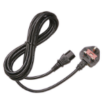 Juniper C13-UK 2.5m C13 coupler BS 1363 Black power cable
