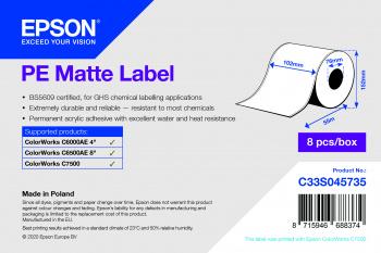 Epson C33S045735 printer label White Self-adhesive printer label