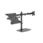 "Vision VFM-DSDB+S notebook stand Notebook & monitor arm Black 41.9 cm (16.5"")"