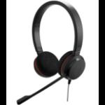 Jabra Evolve 20 MS Duo USB-C Headset Head-band Black