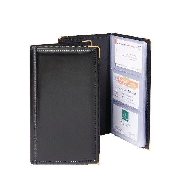 Gold Line Goldline Business Card Holder 48 Pocket Black SBC3P