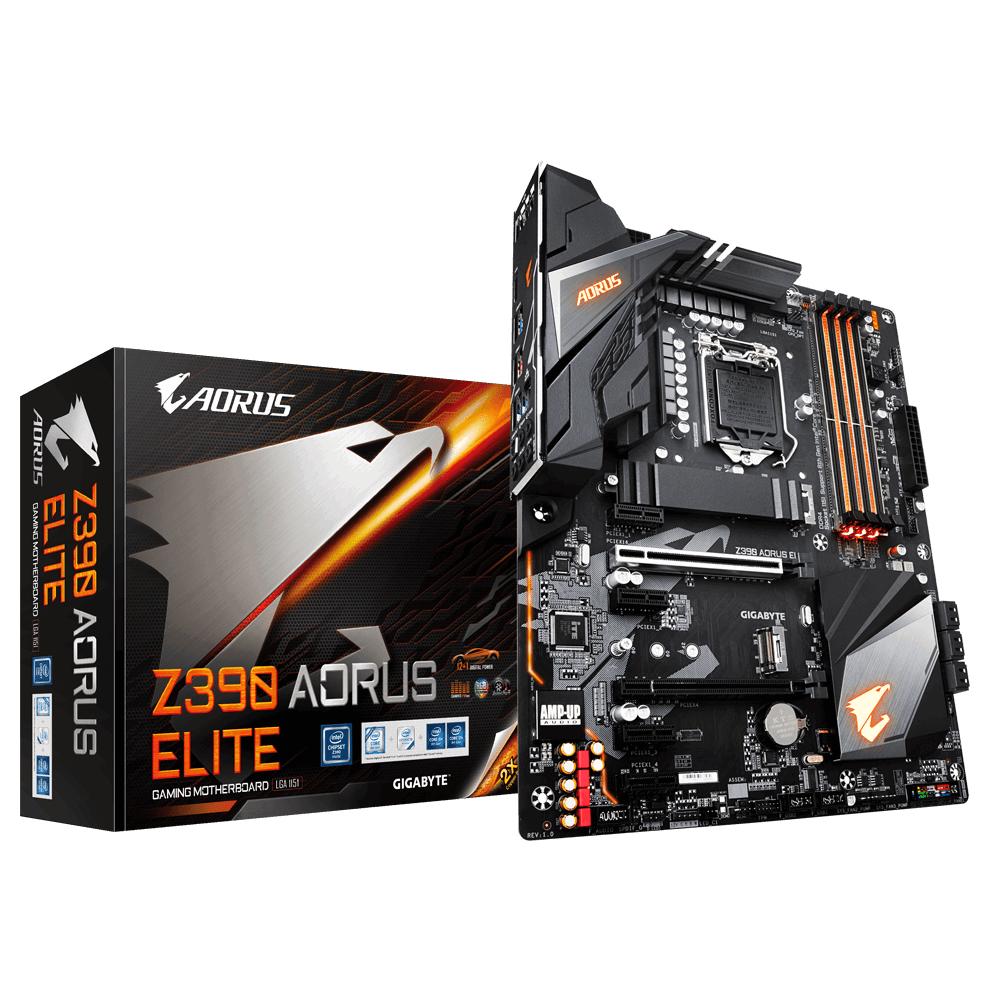 Gigabyte Z390 AORUS ELITE motherboard LGA 1151 (Socket H4) ATX Intel Z390