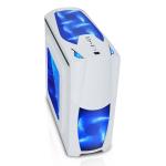 CIT Dragon³ Midi White Case With 12cm Blue LED Fans & Side Window