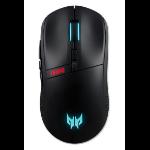 Acer Predator Cestus 350 mouse Ambidextrous RF Wireless+USB Type-C Optical 16000 DPI