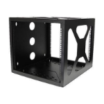 StarTech.com RK819SIDEM rack cabinet 8U Wall mounted rack Black