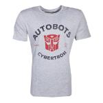 Hasbro Transformers Autobots Cybertron T-Shirt, Male, Small, Grey (TS401671HSB-S)