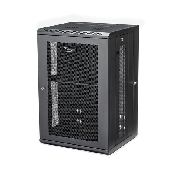 """StarTech.com 18U Serverkast rack wand monteerbaar diepte tot 20"""" / 50 cm scharnierende behuizing"""